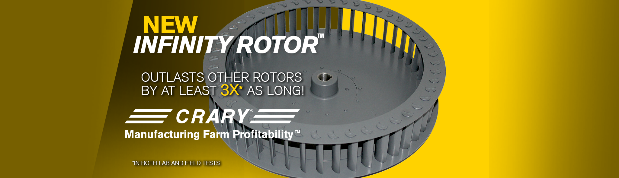 Now Optional on Crary® Air Systems and OEM Fan Applications